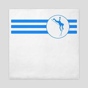 Pole Vaulter Stripes (Blue) Queen Duvet