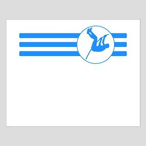 Pole Vaulter Stripes (Blue) Posters