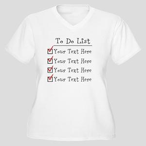 Editable To Do Li Women's Plus Size V-Neck T-Shirt