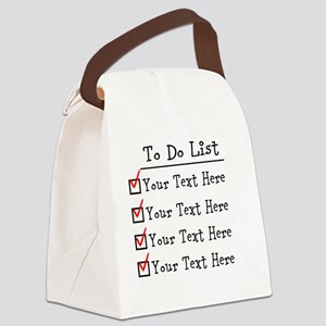 Editable To Do List Canvas Lunch Bag