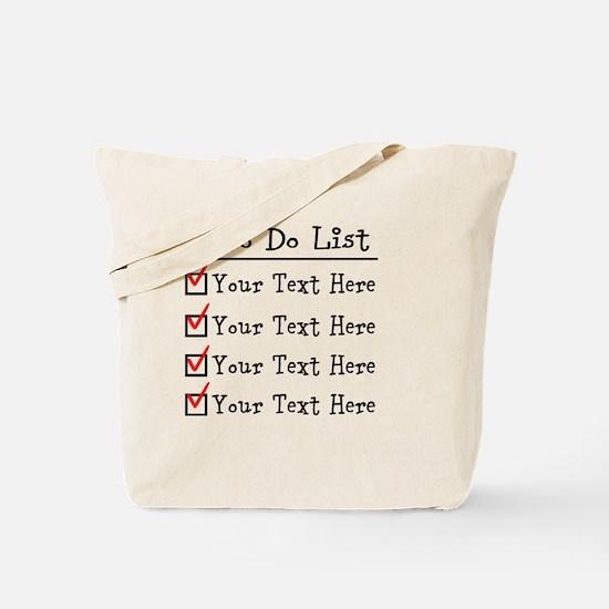Editable To Do List Tote Bag