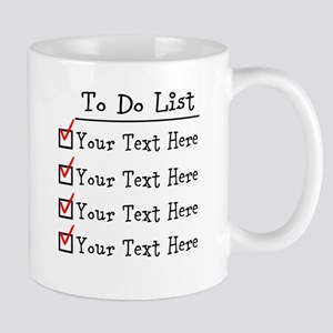 Editable To Do List Mug