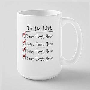 Editable To Do List Large Mug