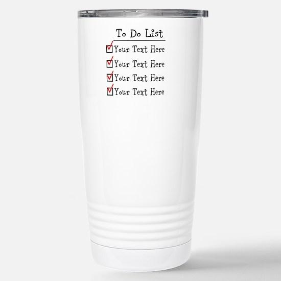 Editable To Do List Stainless Steel Travel Mug