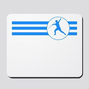 Javelin Throw Stripes (Blue) Mousepad