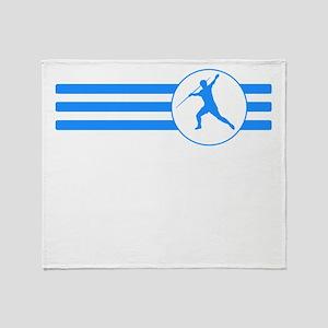 Javelin Throw Stripes (Blue) Throw Blanket