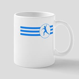 Javelin Throw Stripes (Blue) Mugs