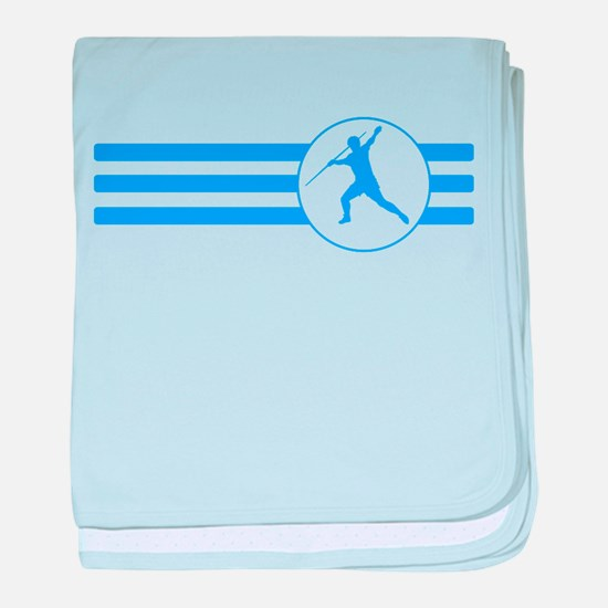 Javelin Throw Stripes (Blue) baby blanket