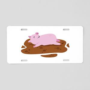 Happy Pig Aluminum License Plate