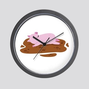 Happy Pig Wall Clock