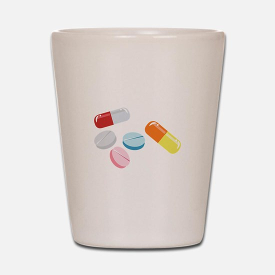 Mixed Pills Shot Glass