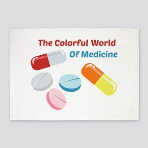 Colorful World of Medicine 5'x7'Area Rug