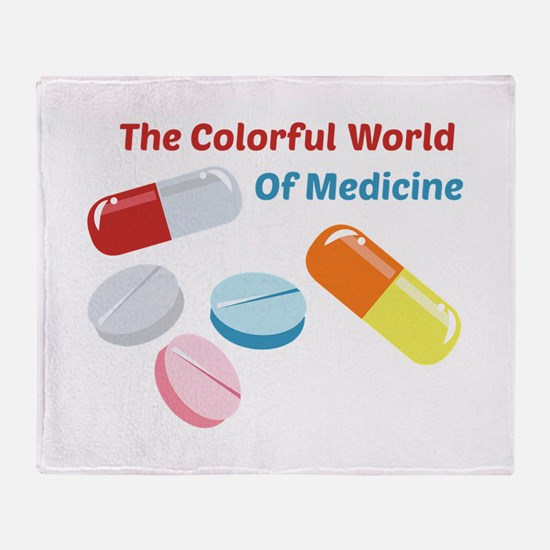 Colorful World of Medicine Throw Blanket
