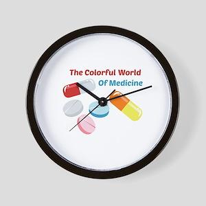 Colorful World of Medicine Wall Clock