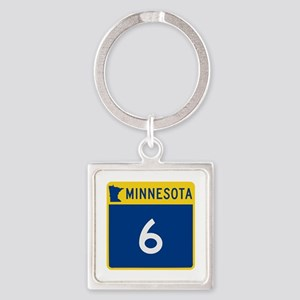 Trunk Highway 6, Minnesota Square Keychain