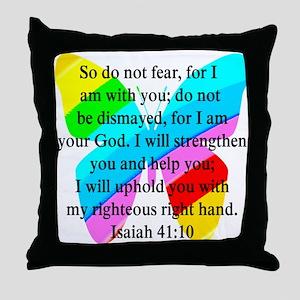 PRETTY ISAIAH 41:10 Throw Pillow