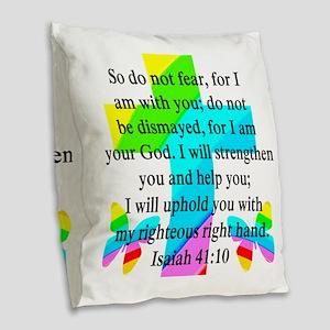 PRETTY ISAIAH 41:10 Burlap Throw Pillow