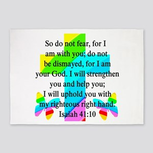 PRETTY ISAIAH 41:10 5'x7'Area Rug