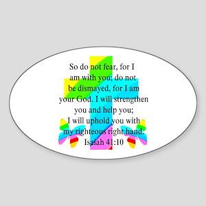 PRETTY ISAIAH 41:10 Sticker (Oval)