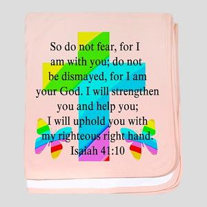 PRETTY ISAIAH 41:10 baby blanket