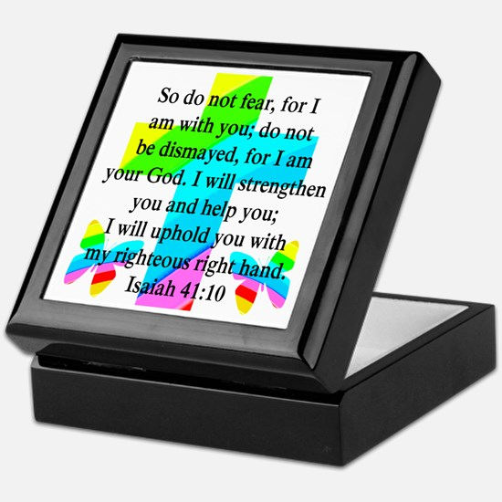 PRETTY ISAIAH 41:10 Keepsake Box