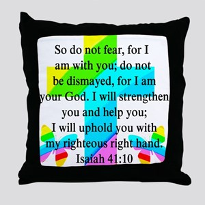 PRETTY ISAIAH 41:10 Throw Pillow