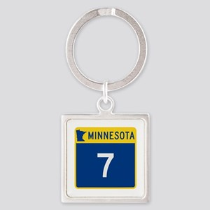 Trunk Highway 7, Minnesota Square Keychain
