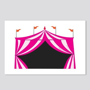 Pink Circus Tent Postcards (Package of 8)