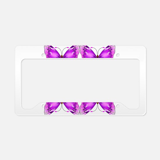 Mirrored Awareness Butterflies License Plate Holde
