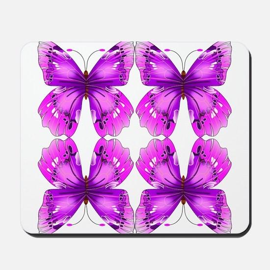 Mirrored Awareness Butterflies Mousepad