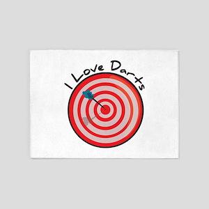 I Love Darts 5'x7'Area Rug