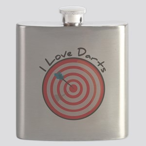 I Love Darts Flask