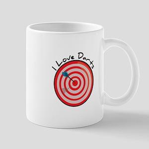 I Love Darts Mugs