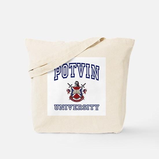 POTVIN University Tote Bag