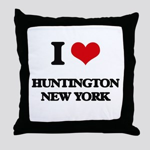 I love Huntington New York Throw Pillow