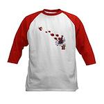 Ladybug Swarm - Kids Baseball Jersey