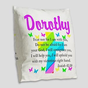 JOYOUS ISAIAH 41:10 Burlap Throw Pillow