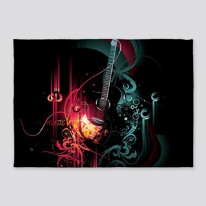 Electric Guitar 5'x7'Area Rug