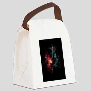 Electric Guitar Canvas Lunch Bag