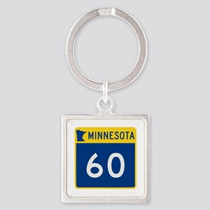 Trunk Highway 60, Minnesota Square Keychain