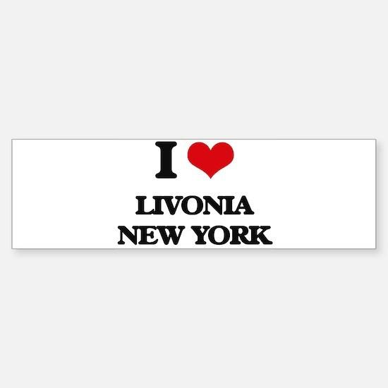 I love Livonia New York Bumper Bumper Bumper Sticker