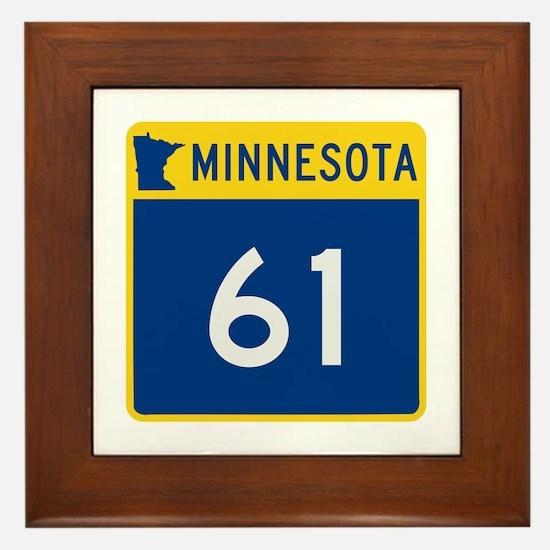 Trunk Highway 61, Minnesota Framed Tile