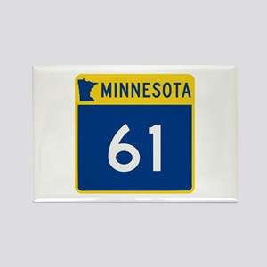 Trunk Highway 61, Minnesota Rectangle Magnet