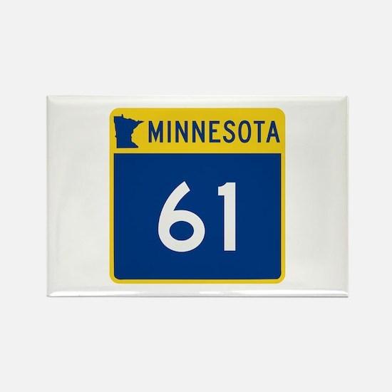 Trunk Highway 61, Minnesota Rectangle Magnet