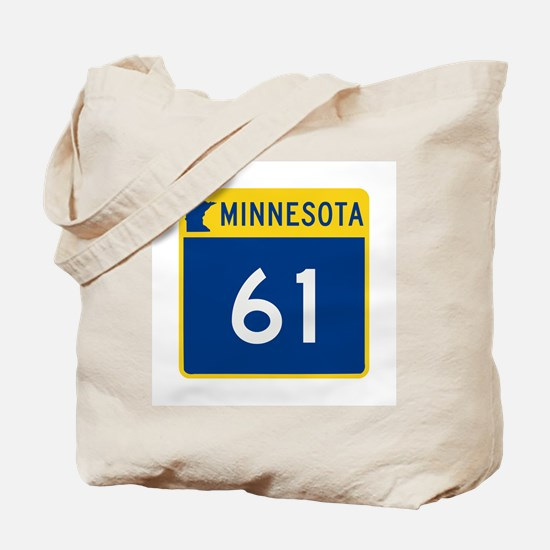 Trunk Highway 61, Minnesota Tote Bag