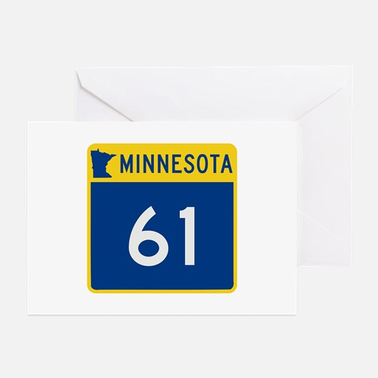 Trunk Highway 61, Minnes Greeting Cards (Pk of 10)