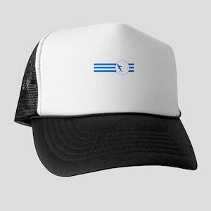 Hammer Throw Stripes (Blue) Trucker Hat