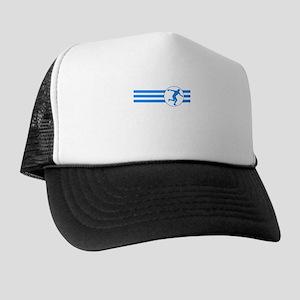 Discus Throw Stripes (Blue) Trucker Hat