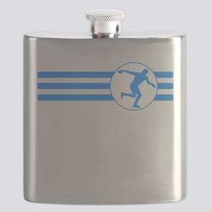 Discus Throw Stripes (Blue) Flask