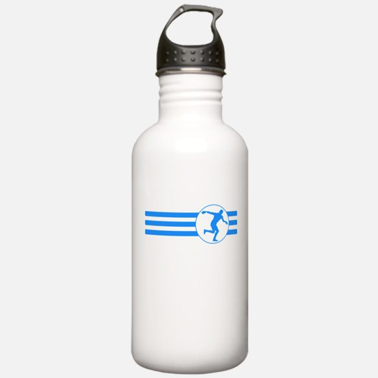 Discus Throw Stripes (Blue) Water Bottle
